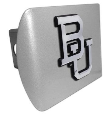 Baylor University Emblem on Brushed Hitch Cover