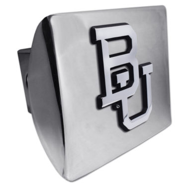 Baylor University Emblem on Chrome Hitch Cover
