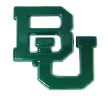 Baylor University Green Powder Coated Emblem