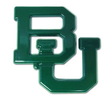 Baylor University Green Powder Coated Emblem