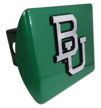 Baylor University Emblem on Green Hitch Cover