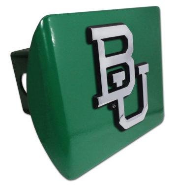 Baylor University Emblem on Green Hitch Cover