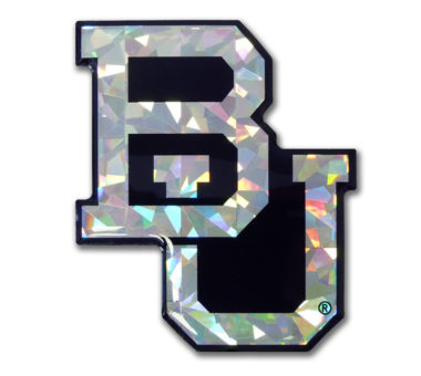 Baylor Silver 3D Reflective Decal