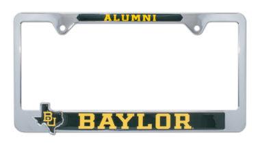 Baylor Alumni License Plate Frame with 3D Texas Shape image