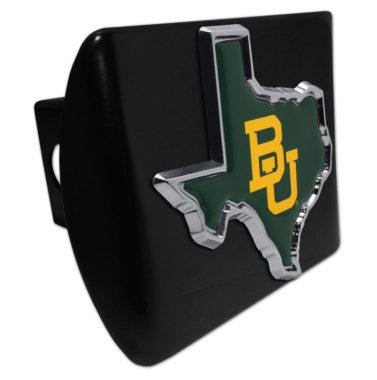 Baylor University Texas Shape Color Emblem on Black Hitch Cover