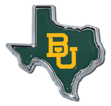Baylor University Texas Shape Color Chrome Emblem