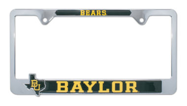 Baylor Bears 3D License Plate Frame