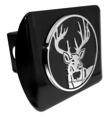 Buck Emblem on Black Hitch Cover