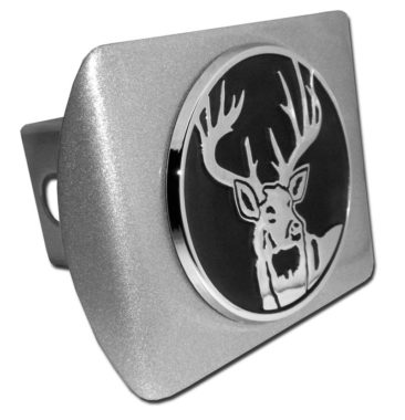 Buck Emblem on Brushed Hitch Cover