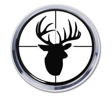Buck Target Chrome Emblem