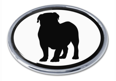 Bulldog White Chrome Emblem
