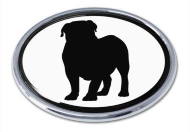 Bulldog White Chrome Emblem