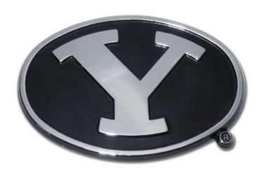 Brigham Young Black Chrome Emblem