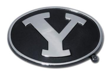 Brigham Young Black Chrome Emblem