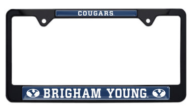 Brigham Young University Cougars Black License Plate Frame