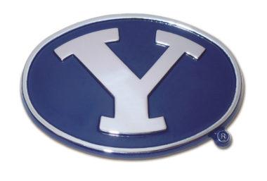 BYU Navy Chrome Emblem