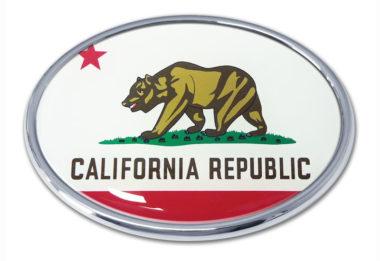 California Flag Chrome Emblem