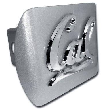 Cal Berkeley Emblem on Brushed Hitch Cover