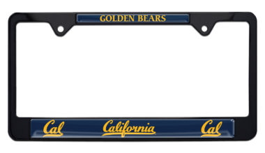 University of California Berkeley Golden Bears Black License Plate Frame