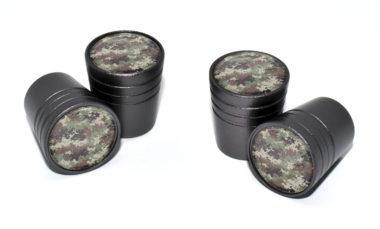 Camo Valve Stem Caps - Black