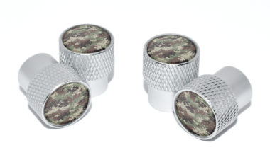 Camo Valve Stem Caps - Matte Knurling