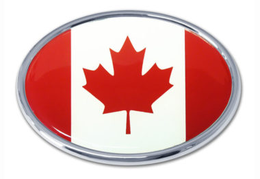 Canadian Flag Chrome Emblem