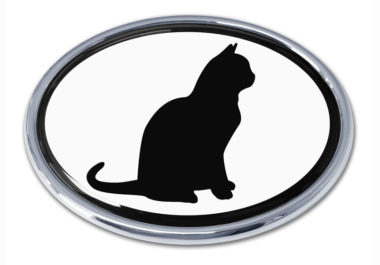 Cat White Chrome Emblem image