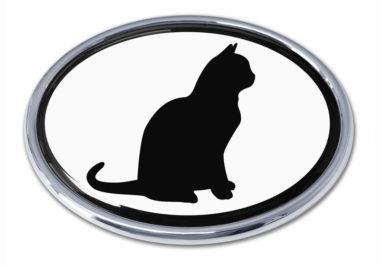 Cat White Chrome Emblem