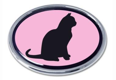 Cat Pink Chrome Emblem