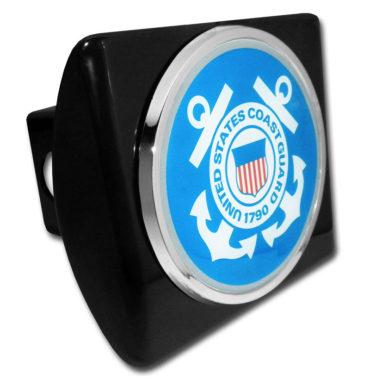 Coast Guard Seal Emblem on Black Hitch Cover