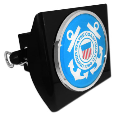 Coast Guard Seal Black Plastic Hitch Cover