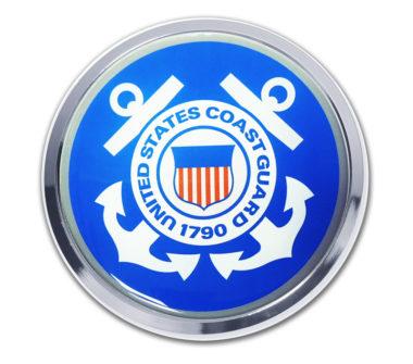 Coast Guard Seal Chrome Emblem