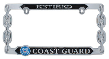 Coast Guard Retired 3D License Plate Frame