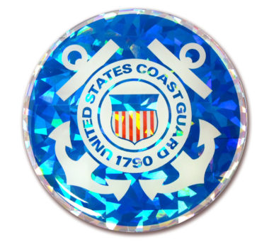 Coast Guard Seal 3D Reflective Decal