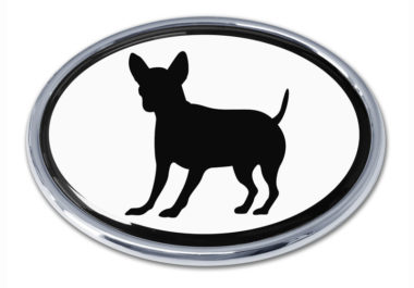 Chihuahua White Chrome Emblem