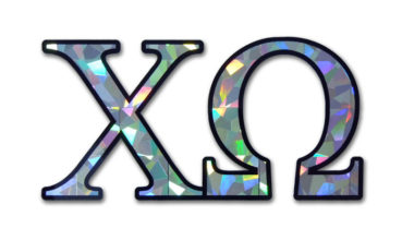 Chi Omega Reflective Decal