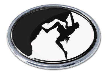 Mountain Climbing White Chrome Emblem
