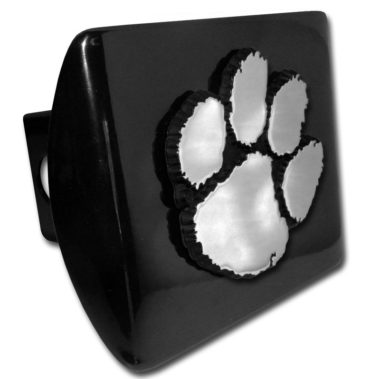 Clemson Emblem on Black Hitch Cover