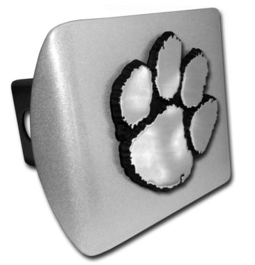 Clemson Emblem on Brushed Hitch Cover