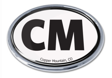 Cooper Mountain White Chrome Emblem