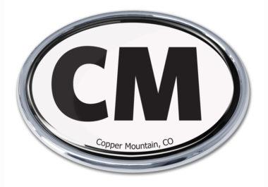 Cooper Mountain White Chrome Emblem