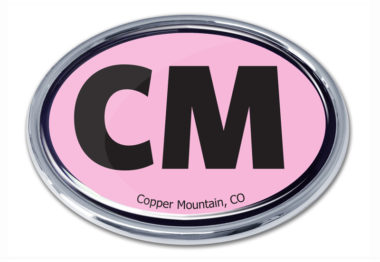 Cooper Mountain Pink Chrome Emblem
