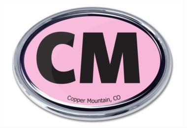 Cooper Mountain Pink Chrome Emblem