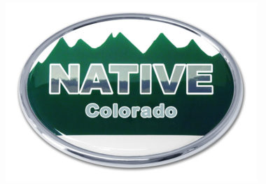 Native Colorado Flag Chrome Emblem