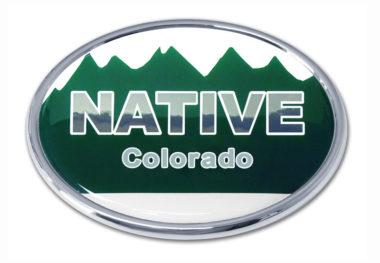 Native Colorado Flag Chrome Emblem