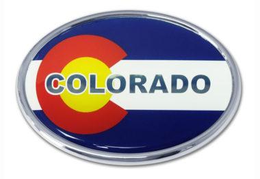 Colorado Flag Chrome Emblem