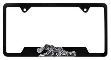 Coal Miner 3D Black License Plate Frame image