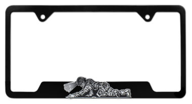 Coal Miner 3D Black License Plate Frame