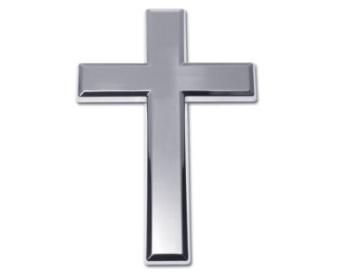 Cross Chrome Emblem