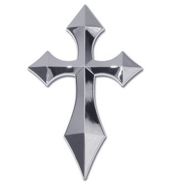 Pointed Cross Chrome Emblem image